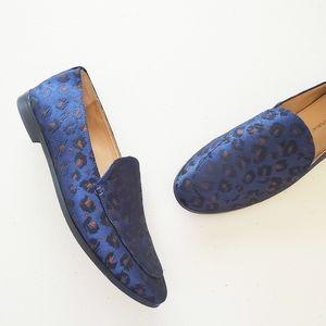 Banana Republic Blue Demi Jacquard Loafer Shoes